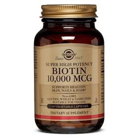 Solgar Biotin 10,000 Mcg - 120 Vegetable Capsules