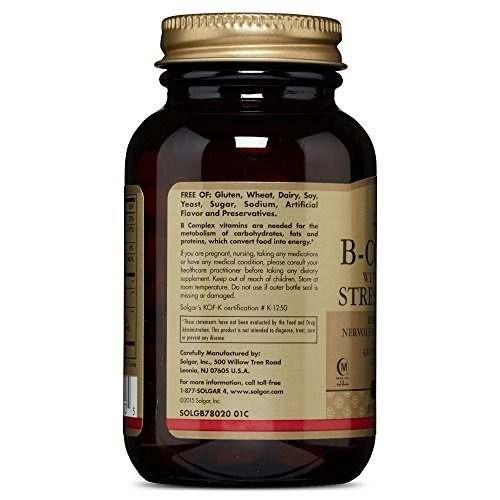 solgar - complejo b con vitamina c de la fórmula de