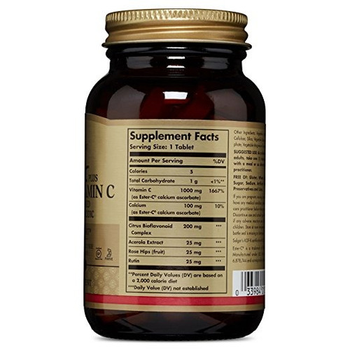 solgar ester-c plus 1000 mg vitamina c - 60 tabletas