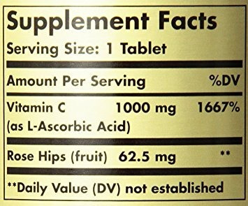 solgar vitamin c 1000 mg with rose hips - 250 tablets