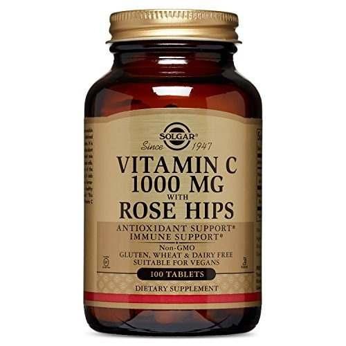 solgar vitamina c con rose hips tablets, 1000 mg, 100 count