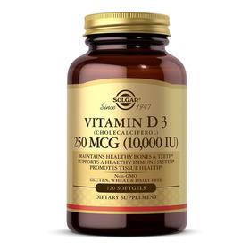 Solgar Vitamina D3 10.000 Iu 120 Softgels Sist Inmunológico