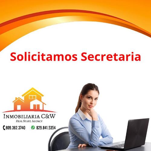 solicitamos secretaria recepcionista