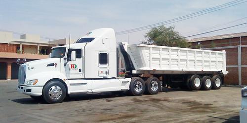 solicito en renta camiones con gondolas de 30m3