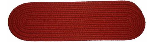 solid poliéster alfombra para peldaños (trenzada, 8por 2