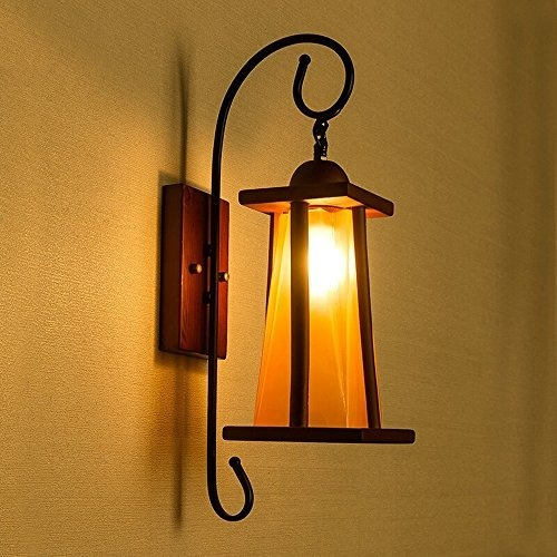 Solid Wood Wall Lamp Led European Retro