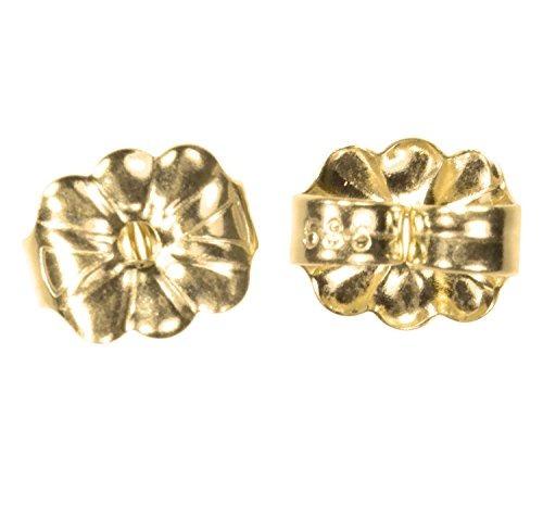 sólido 14k pendiente de oro mariposa trasera pequeña 6mm 1
