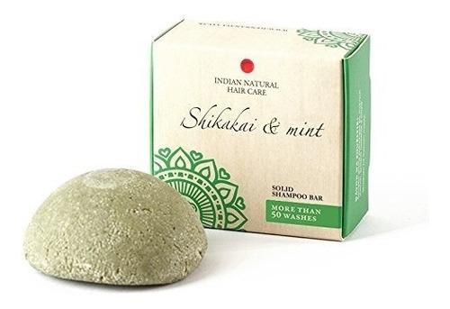 sólido barra de champú - shikakai y menta - para cabello nor