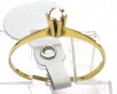 solitario aliança anel meia aliança ouro 18k - 7p brilhantes