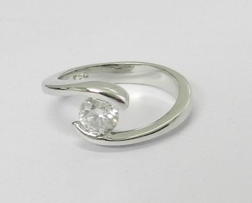 solitário anel anel