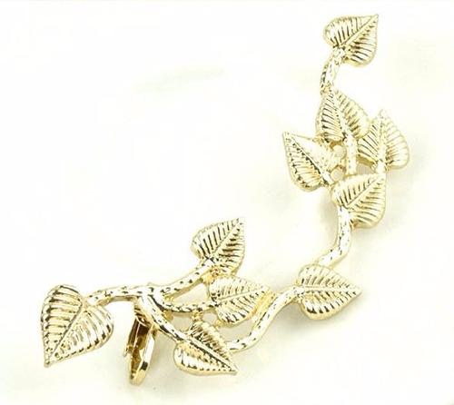 solitario ear cuff trepador hoja zarcillo accesorio moda
