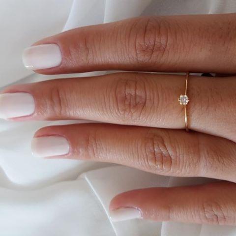 solitário feminino anel