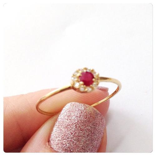 solitário ouro anel