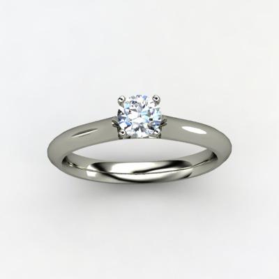 52bbdaf00939f Anel Solitário Em Ouro Branco 18k +0,20cts De Diamantes - R  3.375 ...
