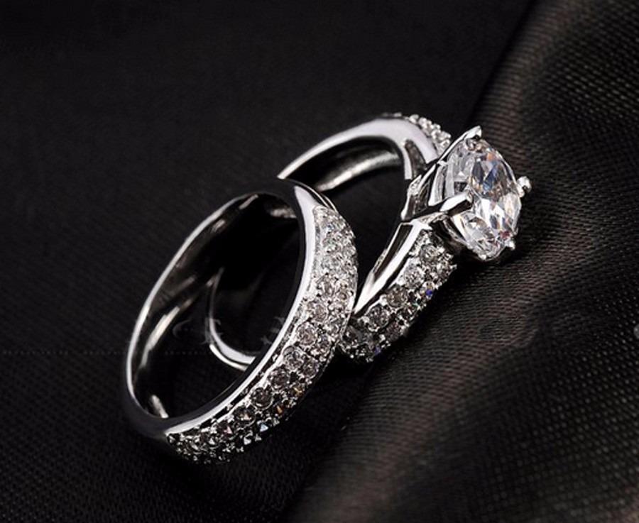 64ceff05dd3e4 Aliança Compromisso Casamento Anel Solitário Prata 925 - R  65