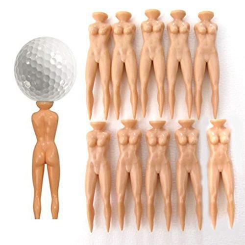 solo 10pcs novedad broma nude lady golf tee