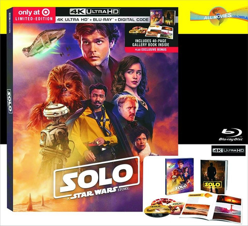 solo: a star wars story (2018) ed. limitada digibook 4k+blu