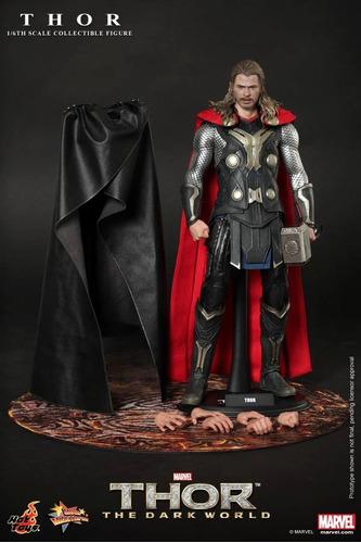 solo capa poncho de thor dark world hot toys 1/6 nueva