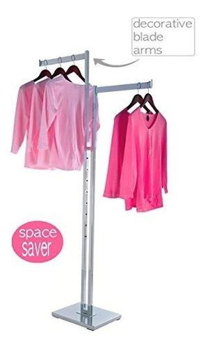 solo estantes para ropa perchero de ropa cromado resistente