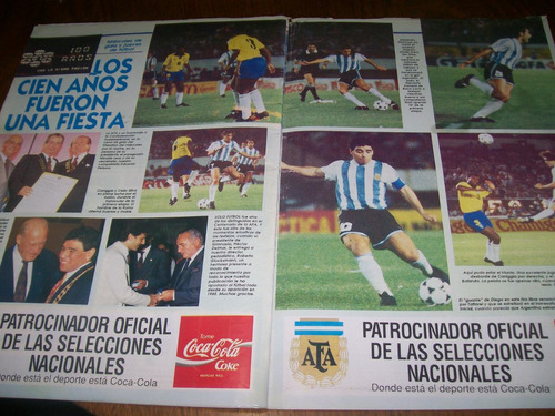 solo futbol 401 - beto acosta - boca / argentina 1 brasil 1