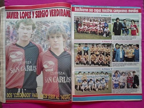 solo futbol n° 245 año 1990 poster boca campeonato 89/90
