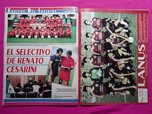 solo futbol n° 251 miniposter: club atletico lanus, simeone
