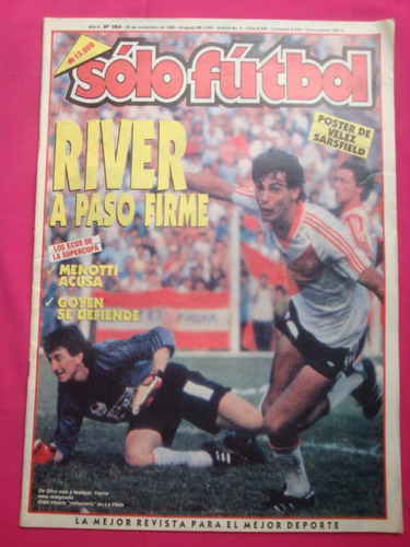 solo futbol n° 284 poster: velez sarsfield, bisconti, lanari