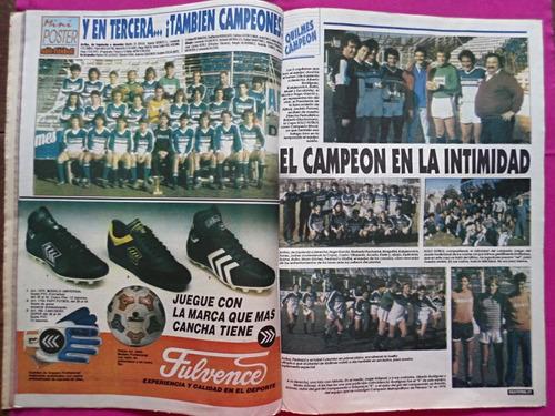 solo futbol n° 313 año 1991 poster quilmes campeon nac  b