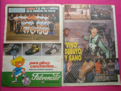 solo futbol n° 321 poster: daniel lucio alonso, san lorenzo