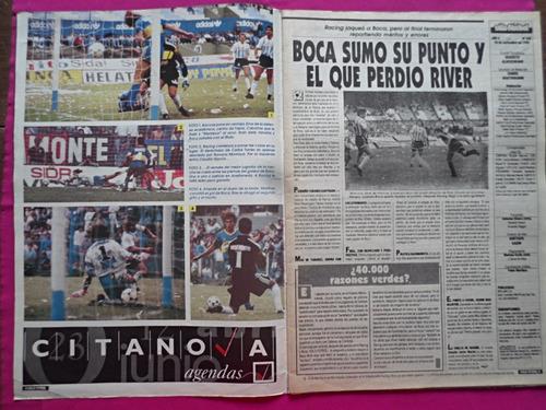 solo futbol n° 389 año 1992 poster nueva chicago, garnero