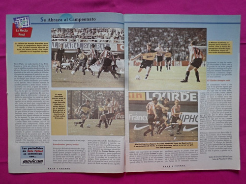 solo futbol n° 698 año 1998 boca estudiantes luciano galetti