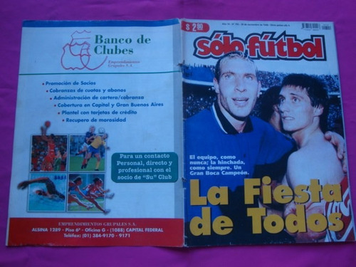 solo futbol n° 702 año 1998 tapa boca campeon