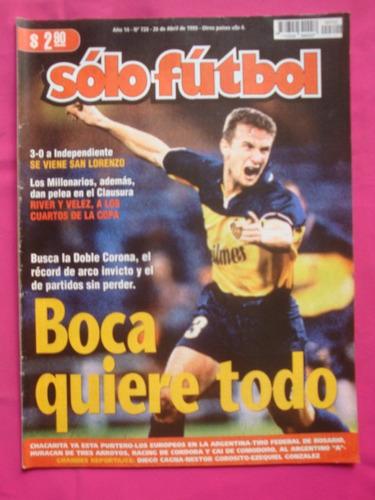 solo futbol n° 720 1999 boca, casla, independiente