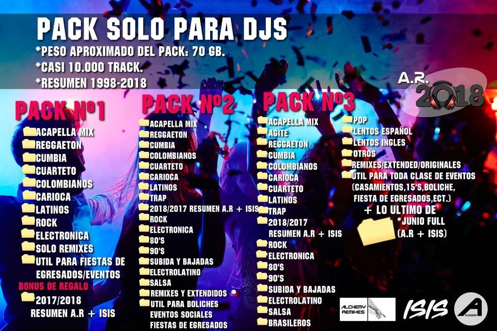 Solo Para Dj Pack Full +120 Gb Alchemy Remixes Y Isis 2019