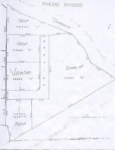 sólo quedan 3 terrenos de 750 m2 en privada residencial !!