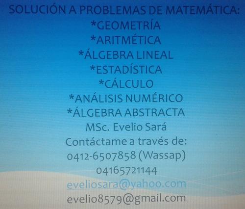 solución de problemas matemáticos. ejercicios de matemática.