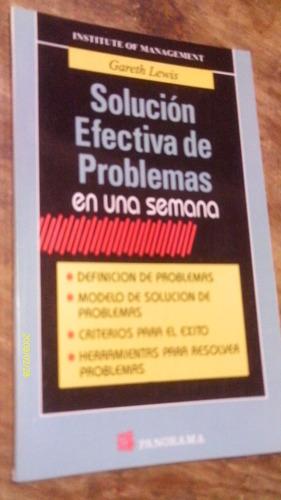 solución efectiva de problemas en una semana , año 1998