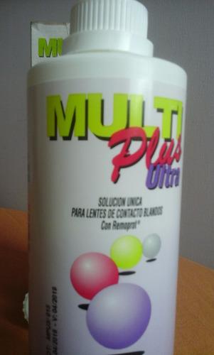 solucion lentes contacto multiplus  360 ml / blandos o duros