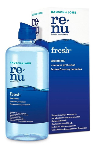 solución limpiadora renu fresh x120ml