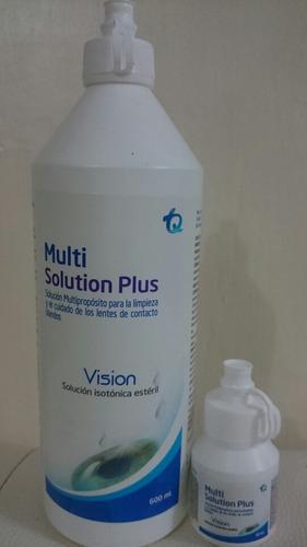 solucion multiuso cuidado, lentes de contacto blandos