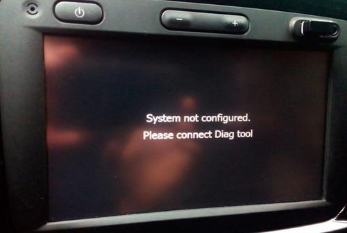 solución pantalla renault error connect diag del medianav