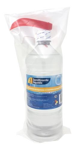 solución sanitizante 1 litro alcohol 70% con atomizador