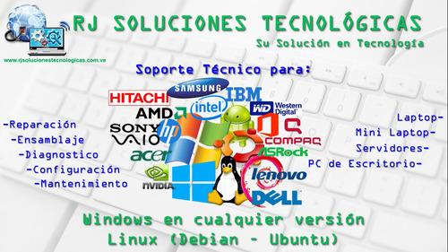soluciones tecnológicas. soporte tecnico, redes, diseño web.