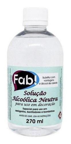 solução alcoólica neutra 270ml fab
