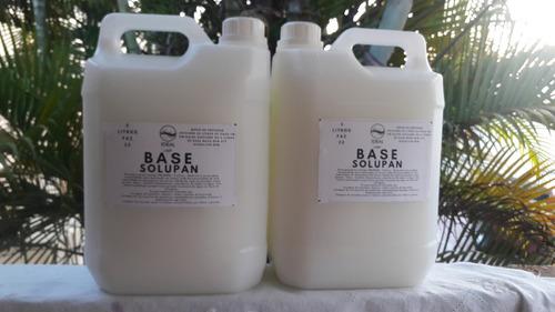 solupan base materia prima  para fabricar 10   litros faz 50