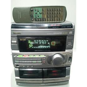 Som Aiwa Nsx-s90 + Controle, Cd/tapes Ñ Funciona, Fm/aux Ok
