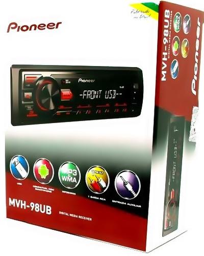 som aparelho pioneer mvh-098ub 2017 - ubs/aux/radio/mp3