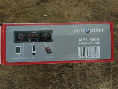 som automotivo fm mp3 bluetooth usb sd rca first option 5560