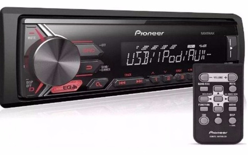 som automotivo media receiver pioneer mvh-x198ui - usb