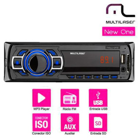 Som Automotivo Multilaser Usb, Mp3 Player, Sd + Pendrive 8gb